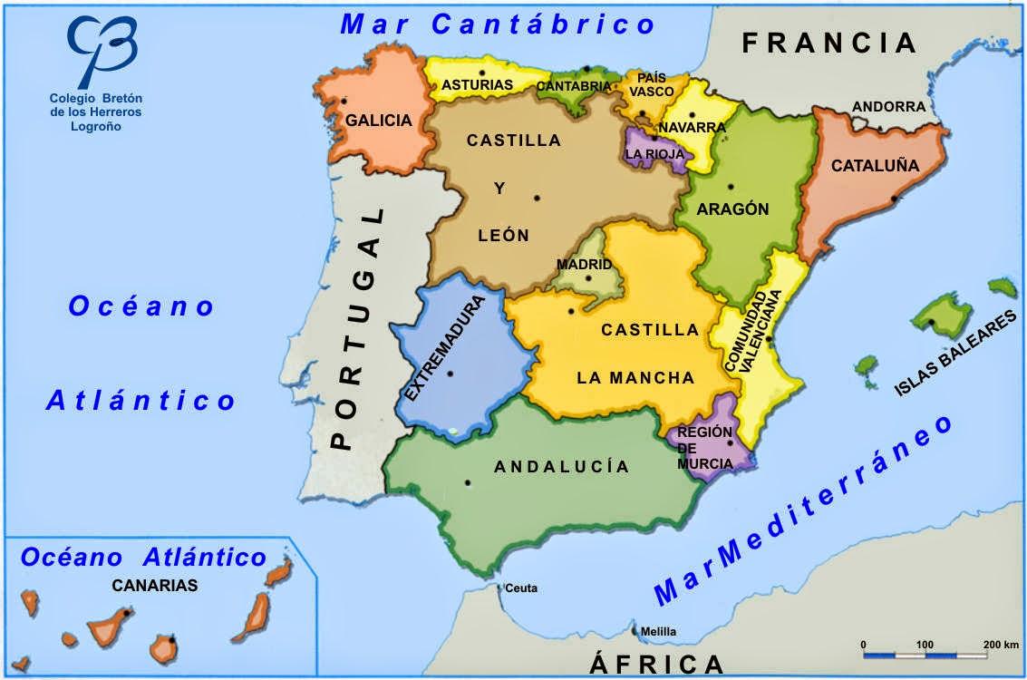 Mapa Pol Tico De Espa A Comunidades El Blog De Olimpia