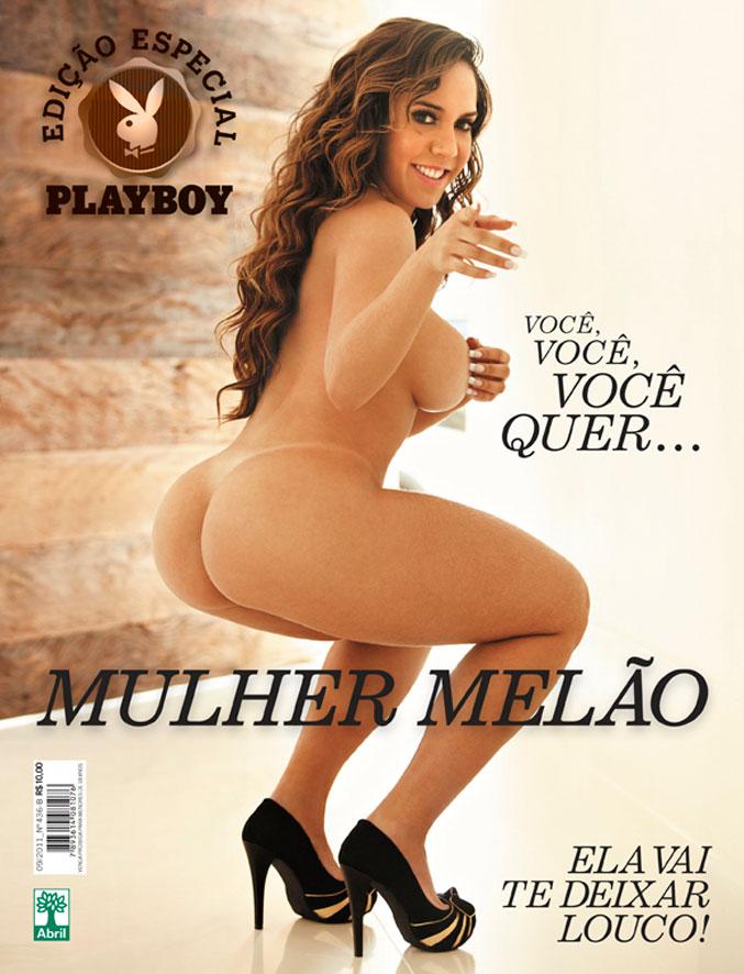 Mulher Mel O Posa Nua Para Edi Especial Da Playboy