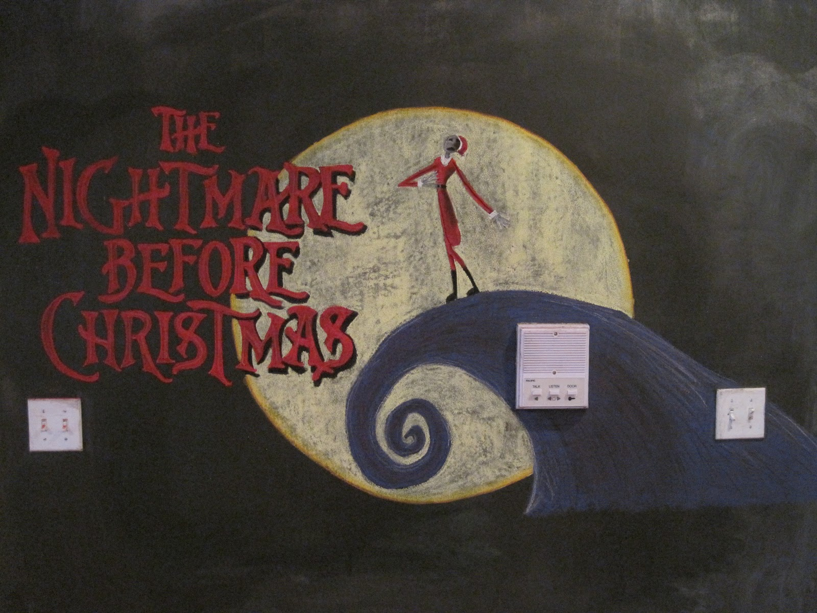 It\'s a Chalkboard Muralcle!: The Nightmare Before Christmas