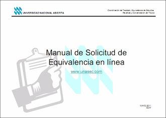 MANUAL DE SOLICITUD DE EQUIVALENCIA