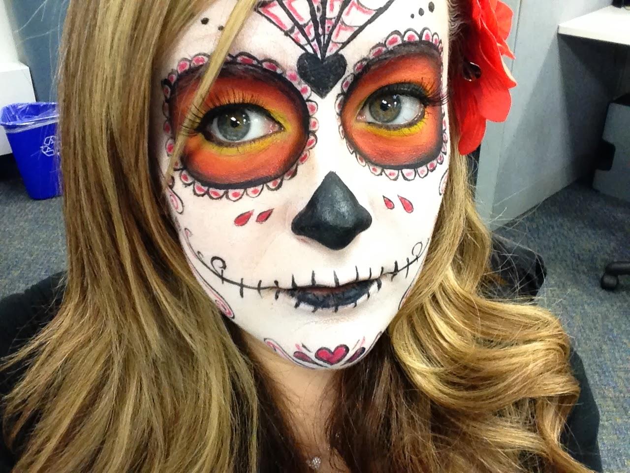 MakeUp By Jackie P.: My sugar skull makeup i did on myself for ...