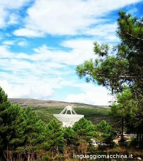 Il Sardinia Radio Telescope visto dall'alto
