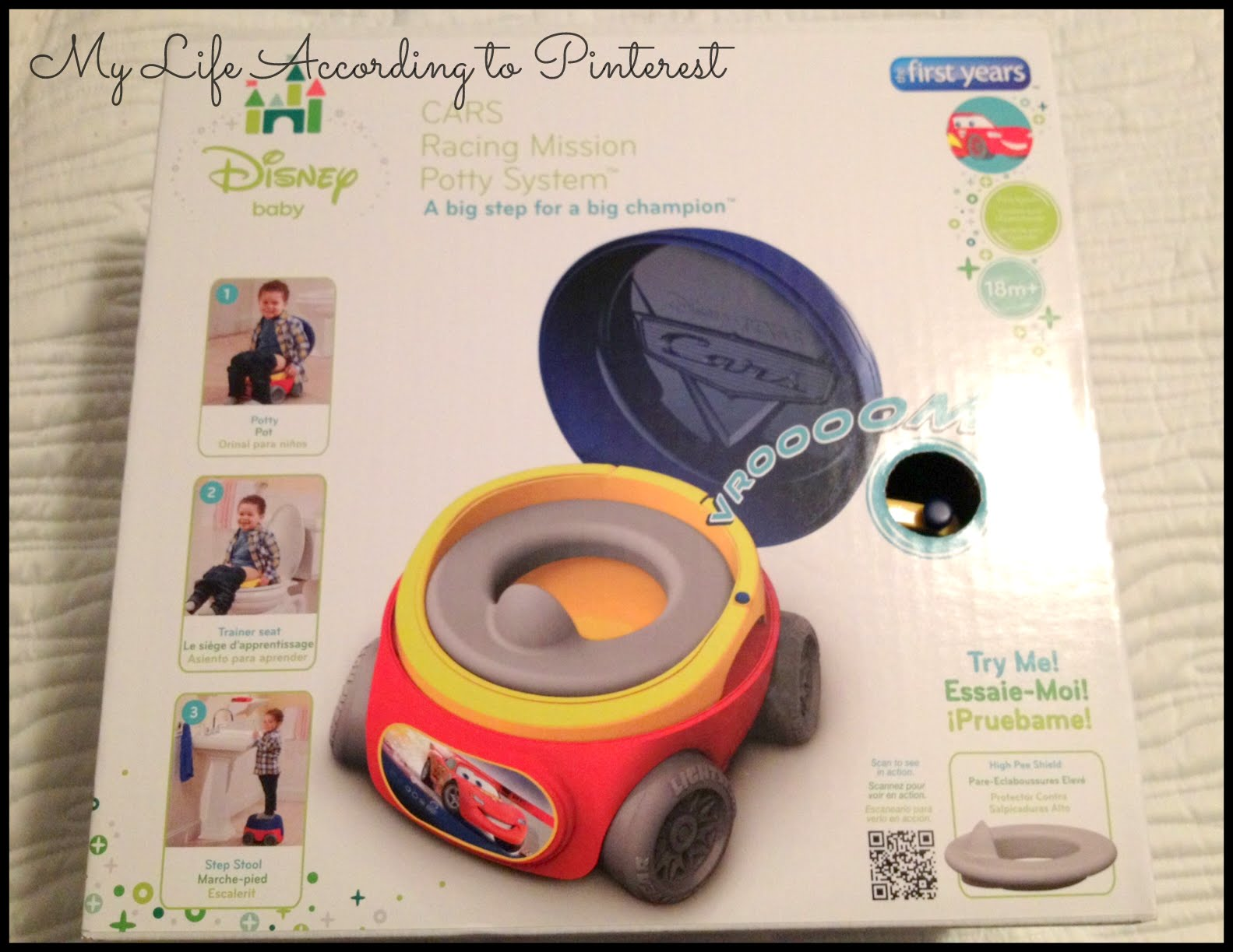 when our potty first arrived i set it in our family room still in the box and my son was immediately running up to it to investigate