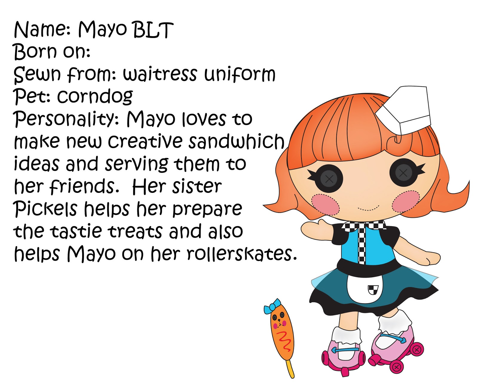 Lalaloopsy Coloring Pages Pdf : Miss missy paper dolls some more lalaloopsy littles
