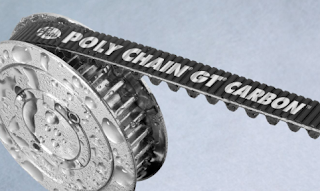 Polyurethane compounds and carbon fiber tensile materials help Gates Poly Chain GT Carbon belts withstand prolonged contact with water without detrimental effects.