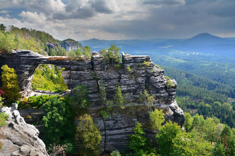 czeska szwajcaria, brama pravcicka