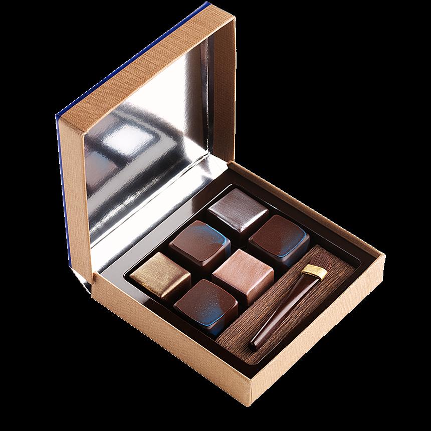Coffret Make-up tout chocolat pour la Fête des Mères réalisé par Jean-Paul Hévin