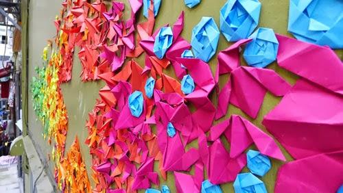 Graffiti Origami Di Dinding Jalan Hongkong - Vietnam