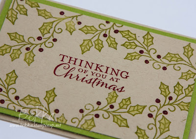 Fast and Fabulous Christmas Card made with the Holly from the Embellished Ornaments Stamp Set from Stampin' Up! UK - get the stamps here