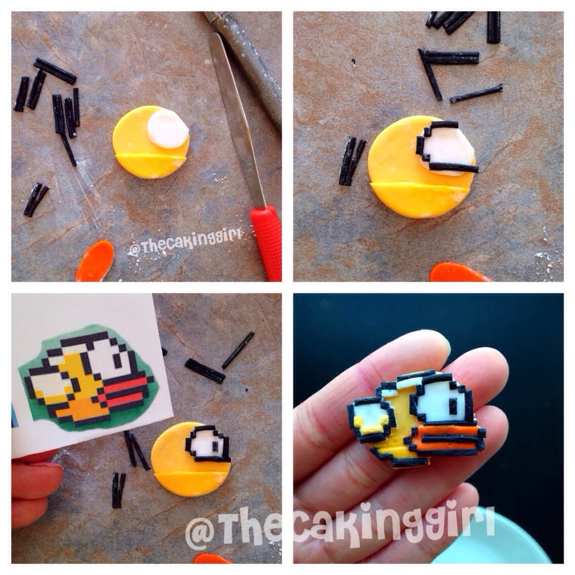 how to make flappy bird cupcake tutorial