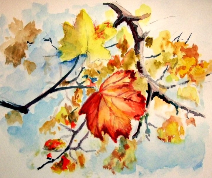 Simple autumn painting images for Fall paintings easy