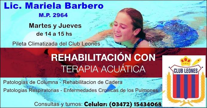 ESPACIO PUBLICITARIO: LIC MARIELA BARBERO