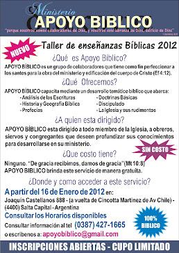 TALLER DE ENSEÑANZA BIBLICA 2012
