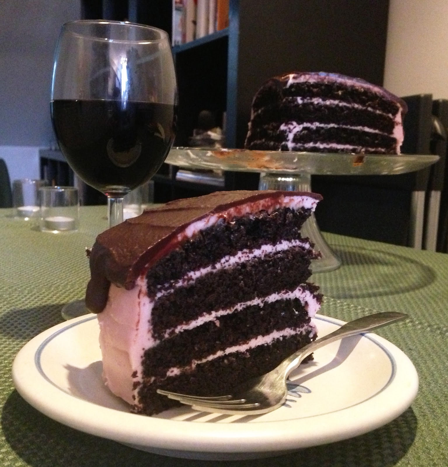 Cake of the Week: Red Wine Chocolate Cake with Raspberry Cream Cheese ...