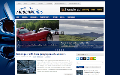 Template Blogger ModernCars