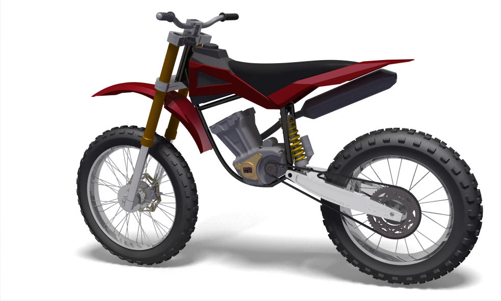 Subashs Catia Works My First Fully Assembled Design A Dirt Bike