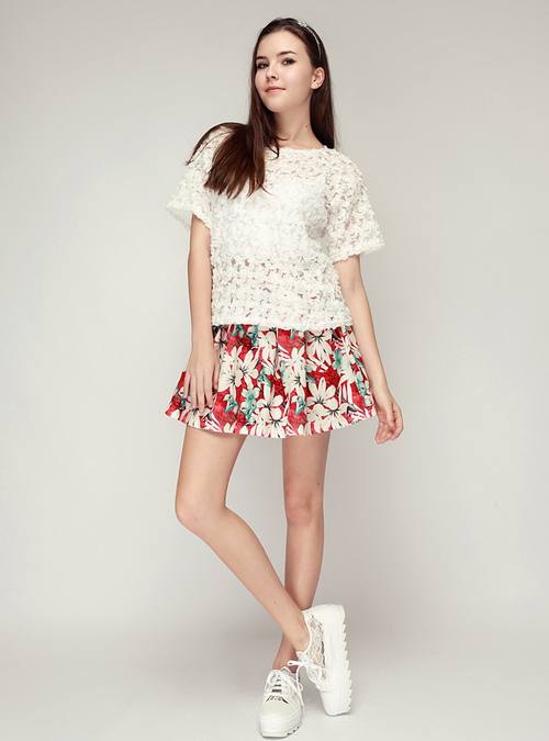 Aloha Flare Skirt