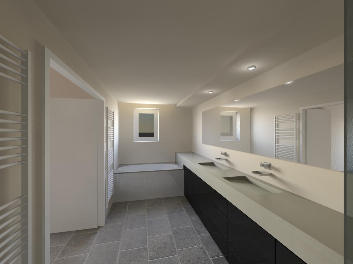 Designer d 39 espace graphiste 3d architectural salle de bain gordes vaucluse at home At home architecture gordes 84