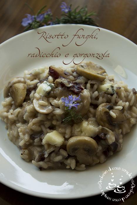 risotto funghi, radicchio e gorgonzola