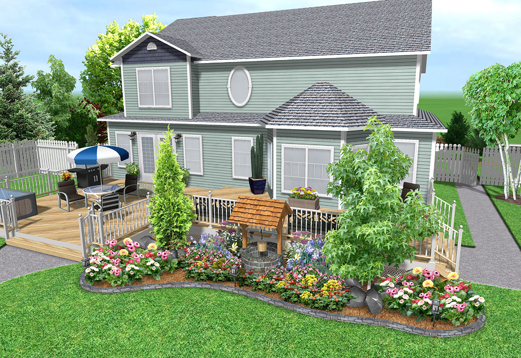 Landscaping around deck design ideas pdf for Free online deck design