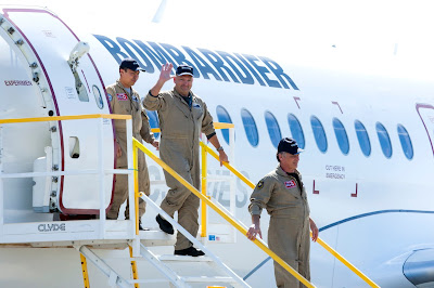 The historic flight of a CS100 jetliner was conducted under the command of Captain Charles Ellis