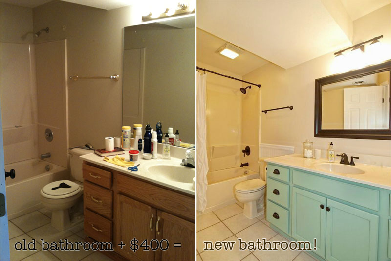 Economical Bathroom Makeovers budget bathroom makeover | matsutake