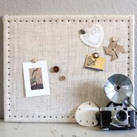 burlap cork board