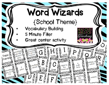 http://www.teacherspayteachers.com/Product/Word-Wizards-Vocabulary-Building-Card-Game-School-Theme-702468