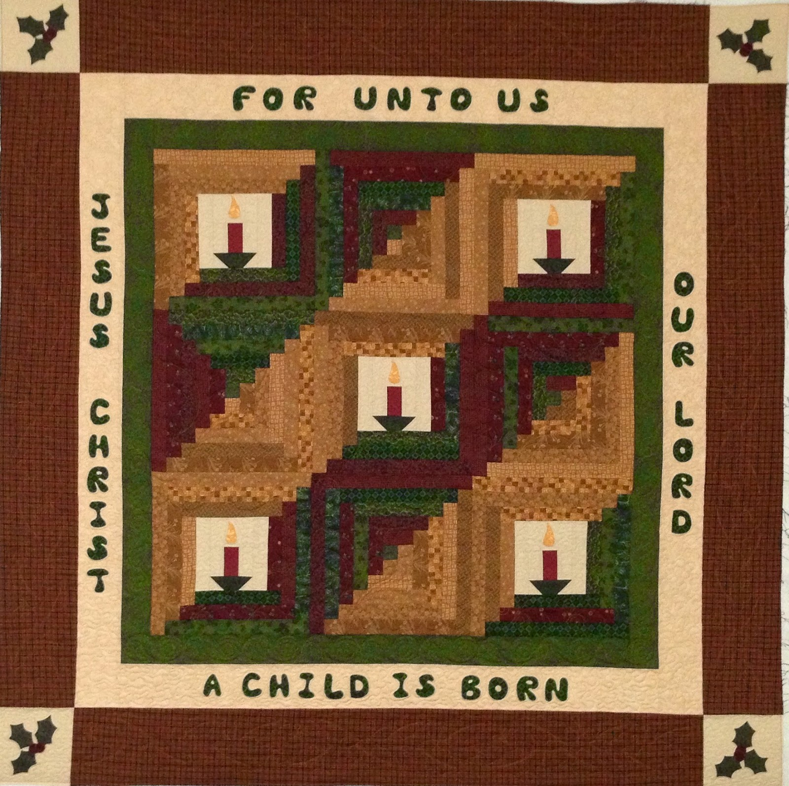 Mei Yi Pflum Christ is Born Christmas Quilt