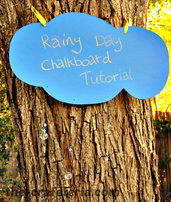 Rainy Day Chalkboard Tutorial