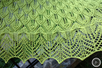 mezgimas wavy leaves and butterflies shawl