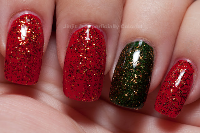 The Nail Junkie - Jin over Illanasqua - Ruthless and Zoya - Veruschka