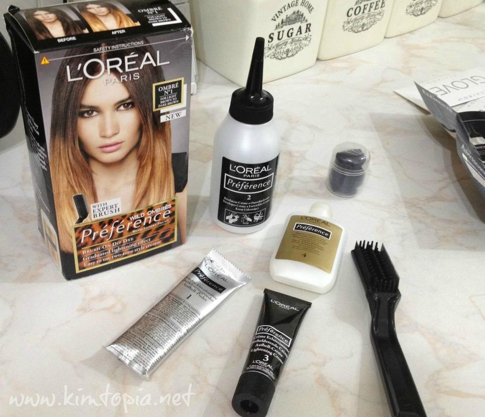 contenu du kit photo emprunt kimtopianet - Ombr Hair Maison Sur Cheveux Colors