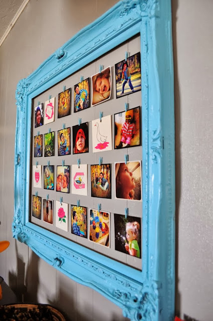 Photo Frame Clothesline Display