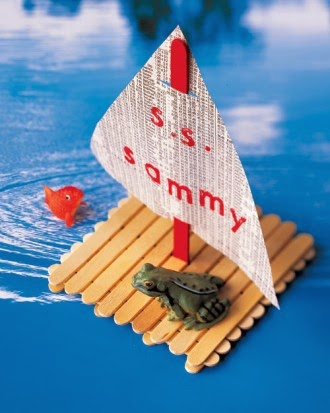 cool popsicle stick party crafts sailboat