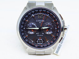 CITIZEN SATELITE WAVE CHRONOGRAPH WORLD TIME - ECO DRIVE - MINT CONDITION