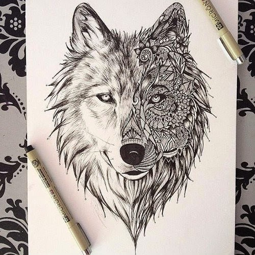 amazing-Zentangle-Wolf