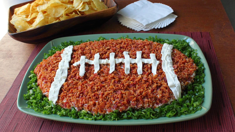 """""""Loaded Baked Potato"""" Super Bowl Dip – [Insert Deflated Football Joke Here]"""