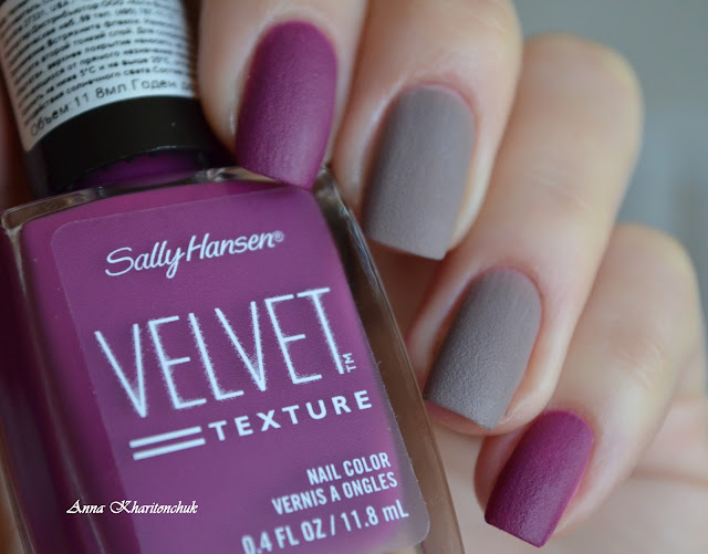 Sally Hansen Velvet Texture 610 Crushed и 630 Lush, стемпинг BP-L016