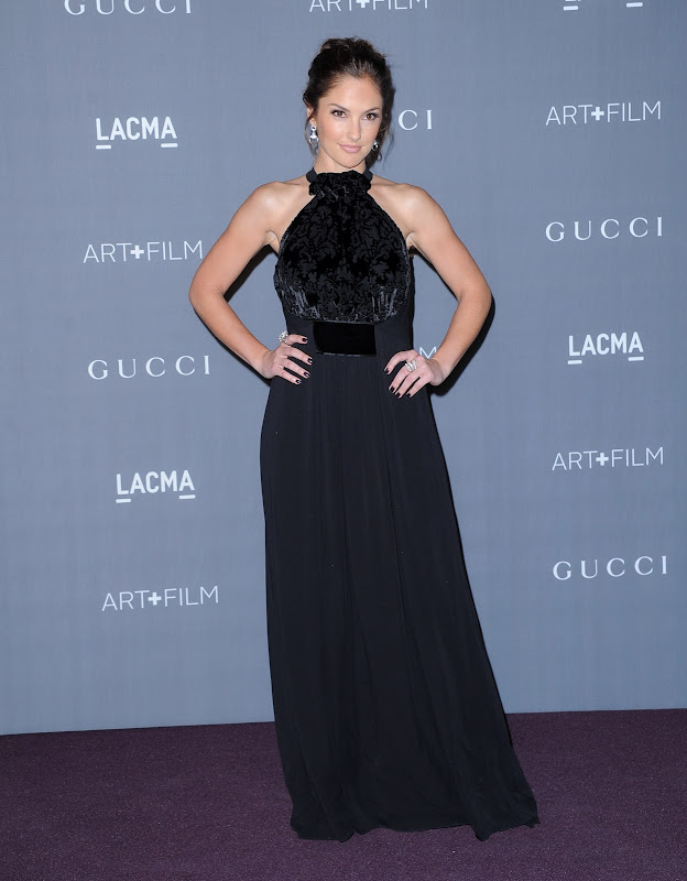 Minka Kelly in a black dress at 2012 LACMA Art+Film Gala