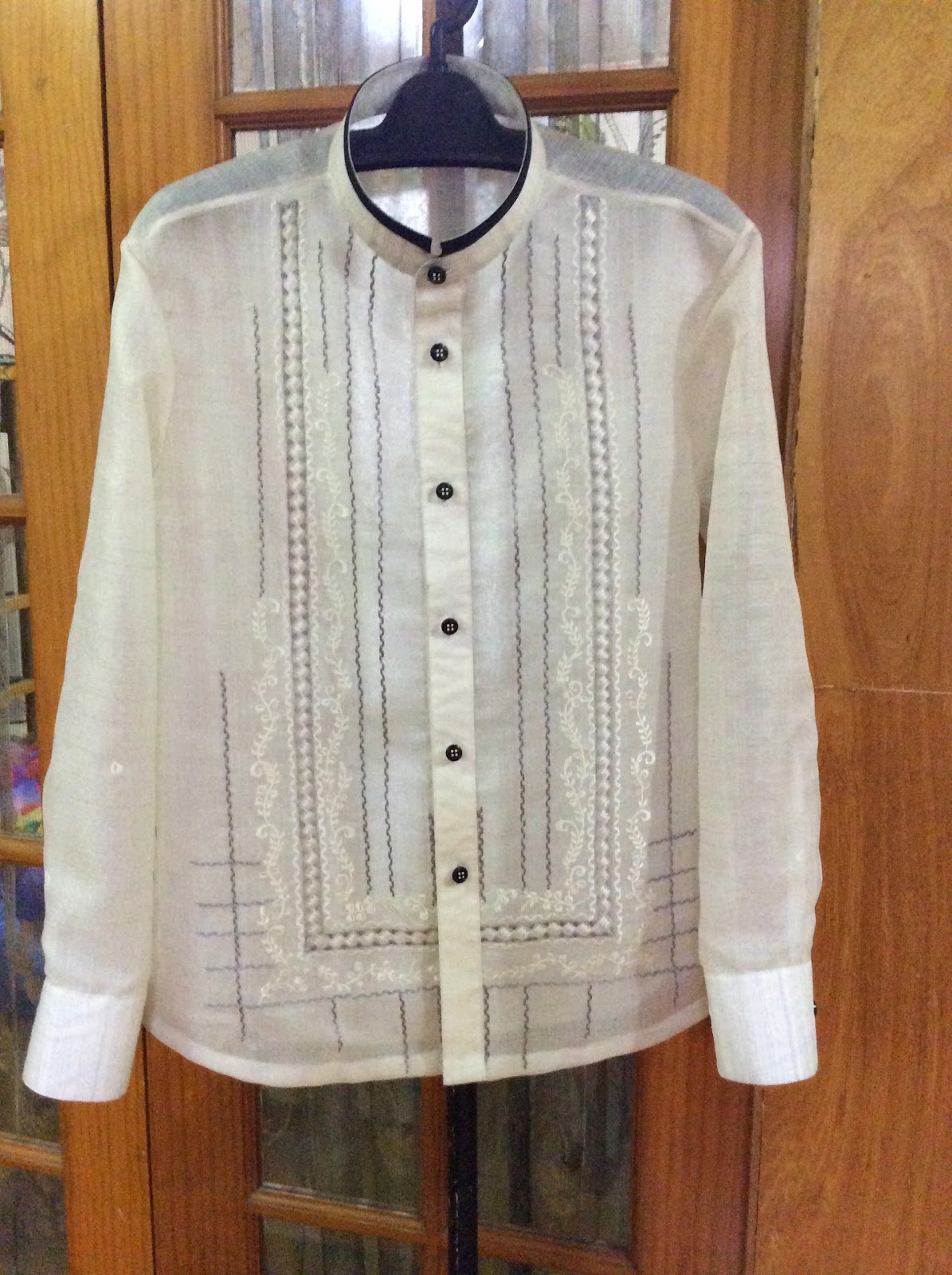 Bride groom house of wedding gown tailoring 8312014 for Barong tagalog wedding dress
