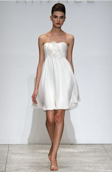 Vestidos cortos de boda para embarazadas