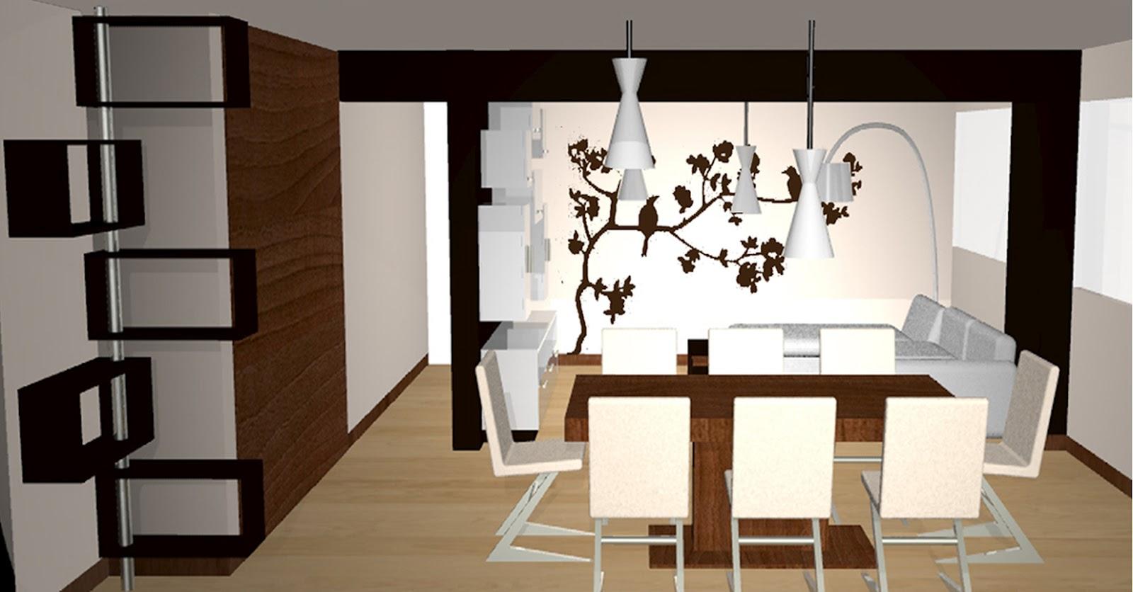 Remodelaci n interior de departamento dise o 3d por - Comedores bonitos y modernos ...