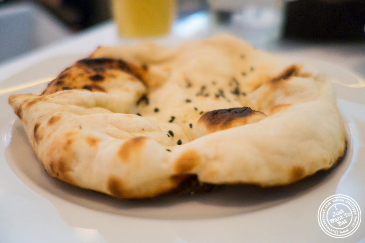image of naan at Tamarind, Indian cuisine, in Tribeca, NYC, New York