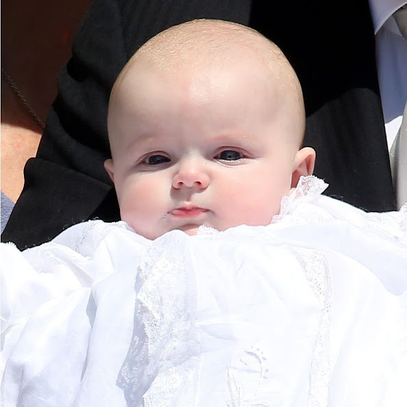 Prince Albert II of Monaco, Princess Gabriella of Monaco, Prince Jacques of Monaco and Princess Charlene of Monaco attend The Baptism Of The Princely Children