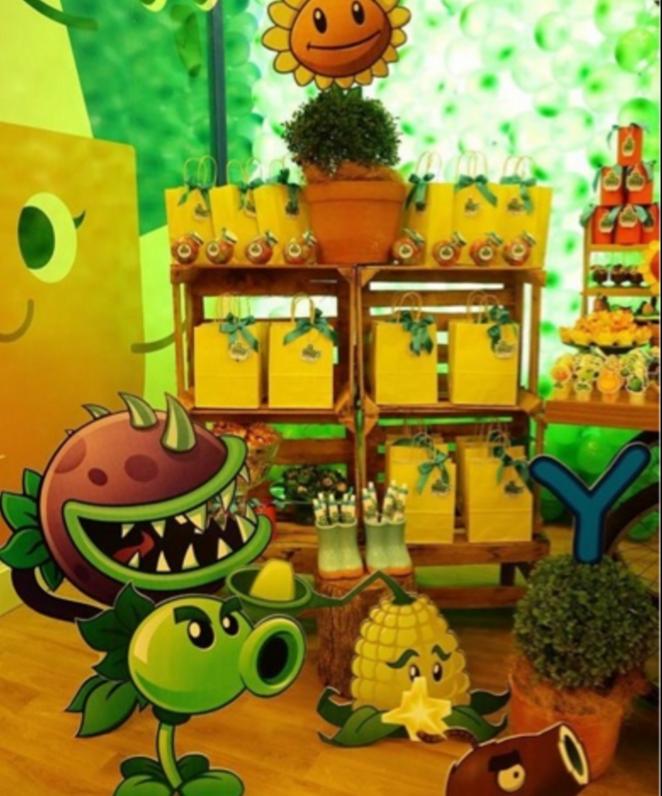 101 fiestas fiesta tem tica de plantsvszombies - Fiesta de halloween infantil ...
