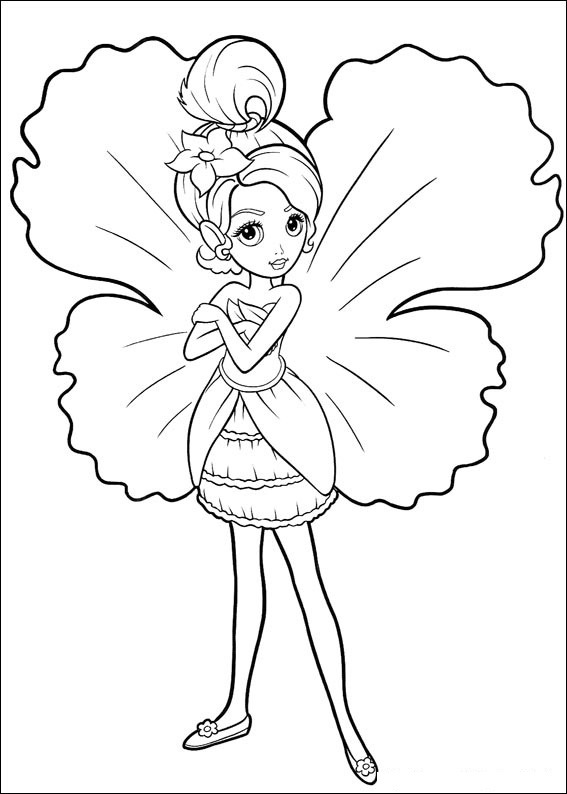 free printable farie coloring pages - photo#25