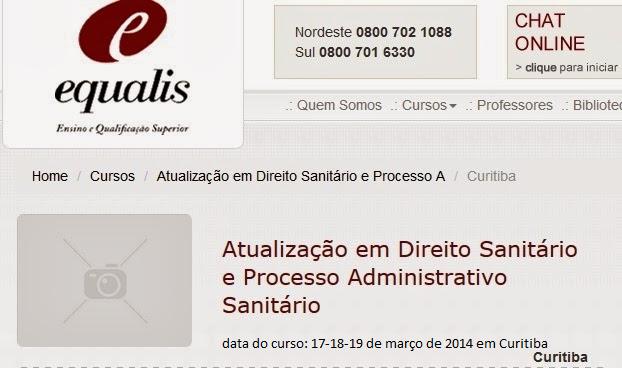 Curso de Direito Sanitário e Processo Administrativo
