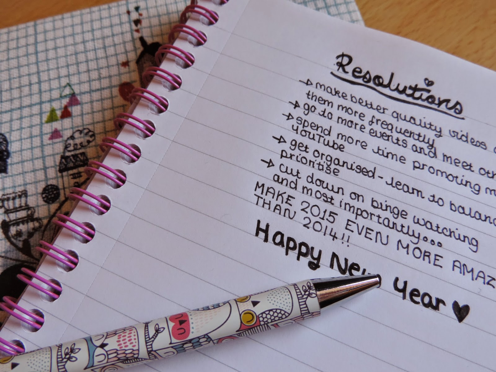 New Year's Resolutions 2015