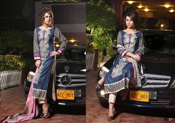New Embroidered Linen Winter Collection 2014 For Women And Girls By Subhata Desingner
